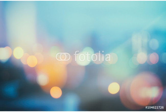 abstract background with bokeh defocused lights and shadow from cityscape at night, vintage or retro color tone 64239