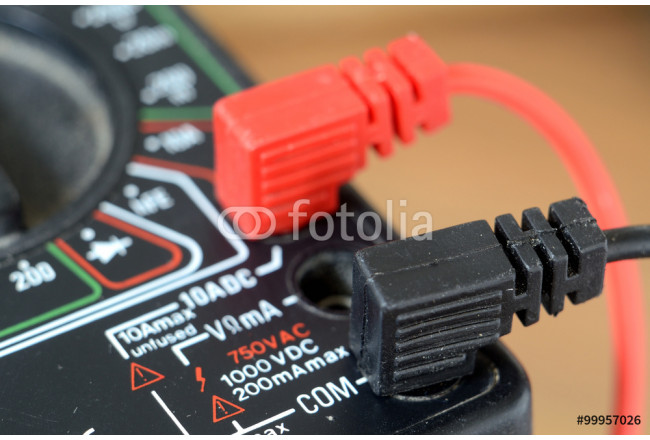 Detail of electrical multimeter tester 64239