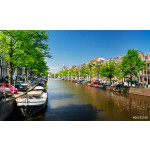 Sunny spring day. Canal Amsterdam 64239