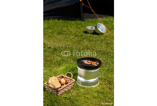Painting Camping breakfast 64239