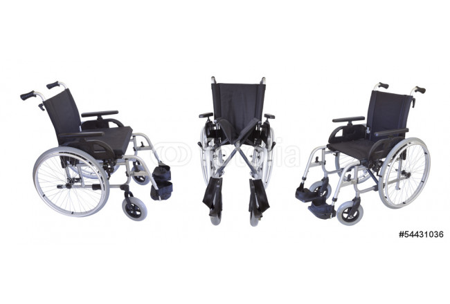 Toile déco Three views of the wheelchair isolated on white 64239