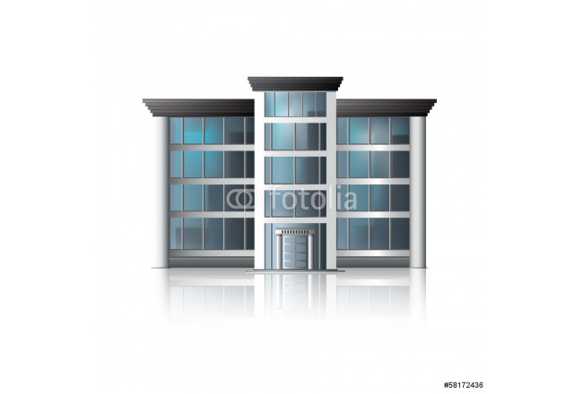 office building with reflection and input 64239