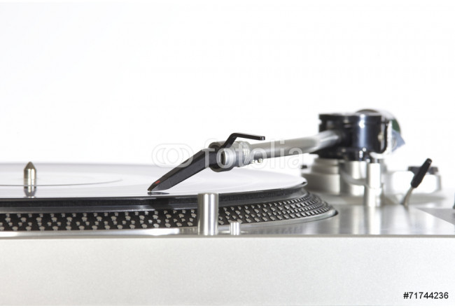 turntable with a vinyl isolated on white background 64239