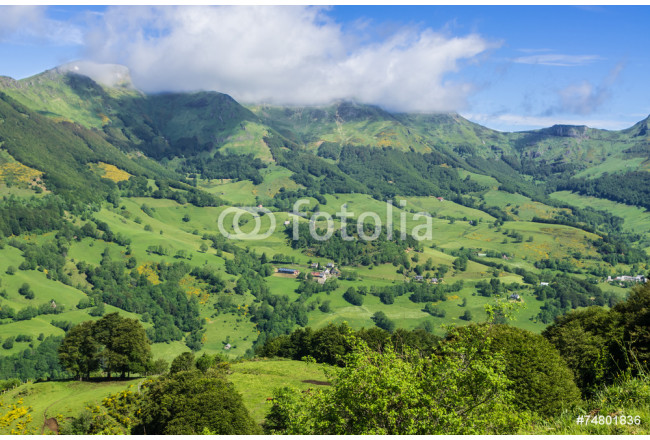 Mountainous volcano landscape in France. 64239