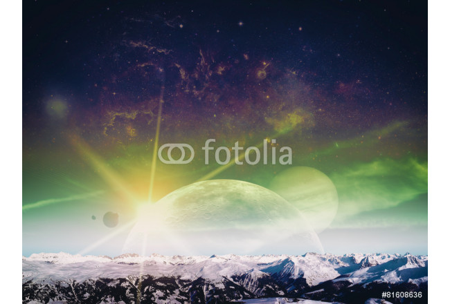 Another world landscape, abstract fantasy backgrounds 64239
