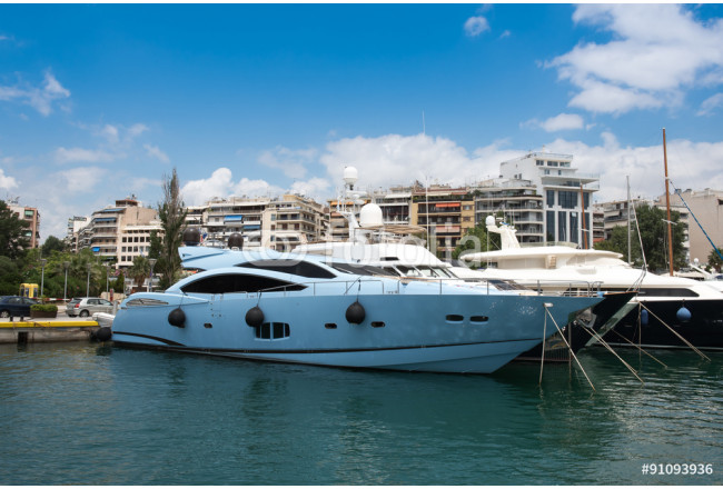 Quadro contemporaneo Fast Motor boats and Luxury in Marina Zeas Piraeus Greece 64239