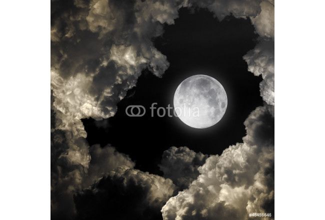 night sky with moon and clouds 64239