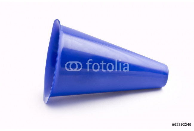 Painting Blue Megaphone isolated on white 64239