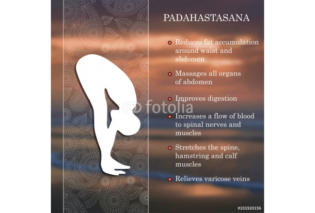 Art painting Yoga pose infographics, benefits of practice 64239