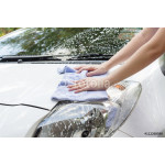 Woman hands washing a white car 64239