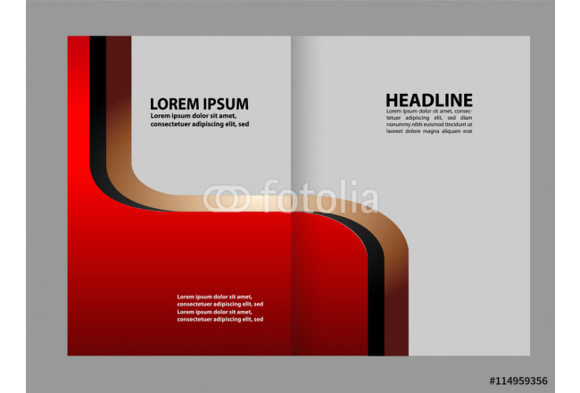 Brochure design template vector abstract