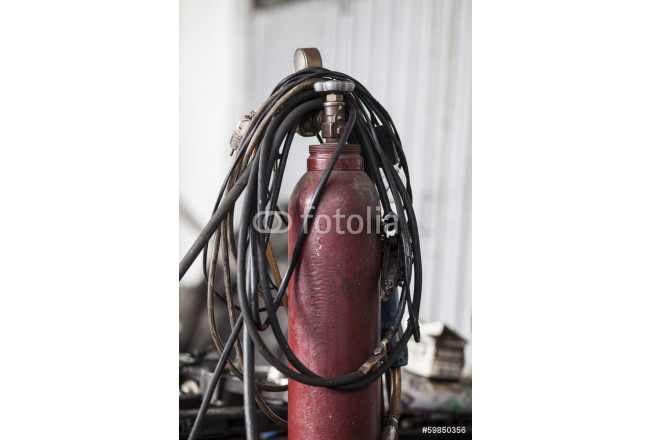 acetylene bottle for welding in the garage 64239