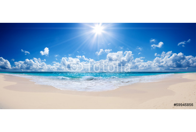 tropical beach and sea - landscape 64239