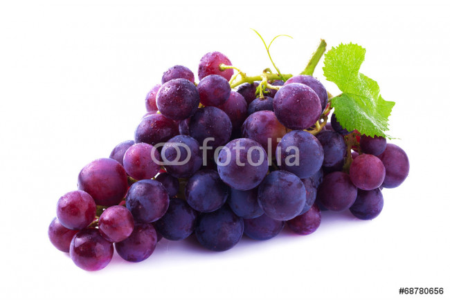 Ripe grapes isolated. 64239