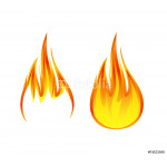flame symbol or icon vector illustration 64239