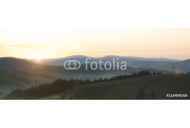Sunrise In Carpathian Mountain (Borzava, Ukraine 2016) 64239
