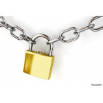3d padlock and chain isolated 64239