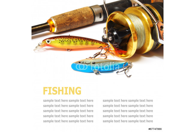 Fishing gear is isolated on a white background 64239