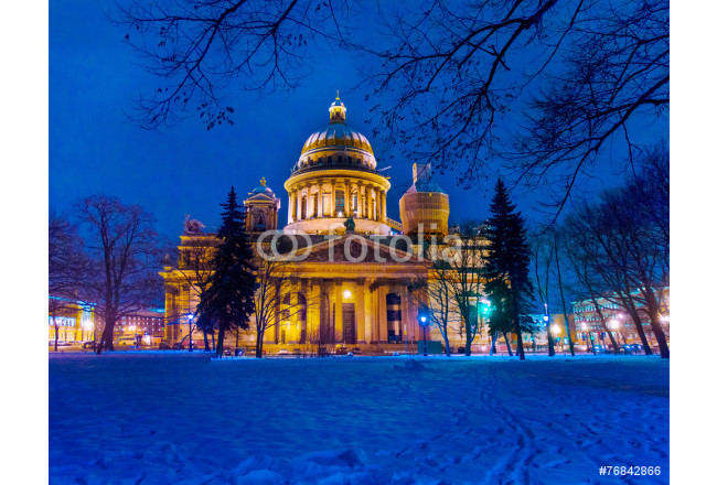 Gold tale / St. Isaac's Cathedral Saint-Petersburg, Russia. Janu 64239