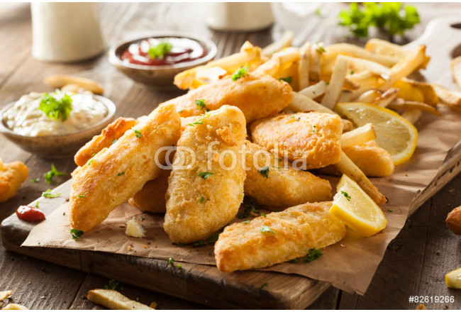 Crispy Fish and Chips 64239