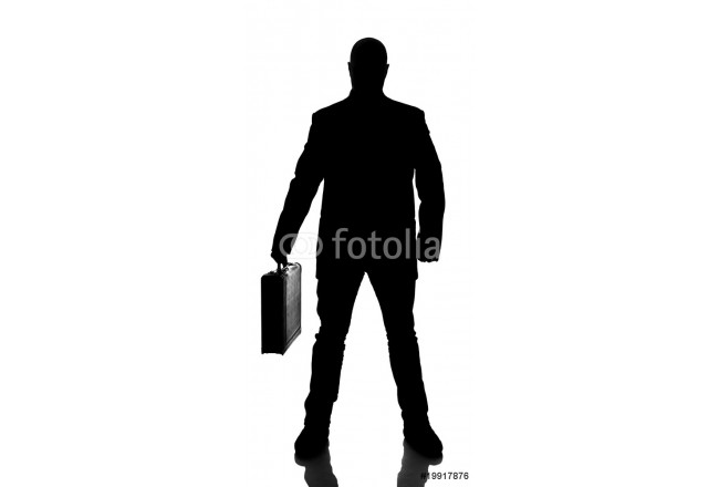 Silhouette of a businessman 64239