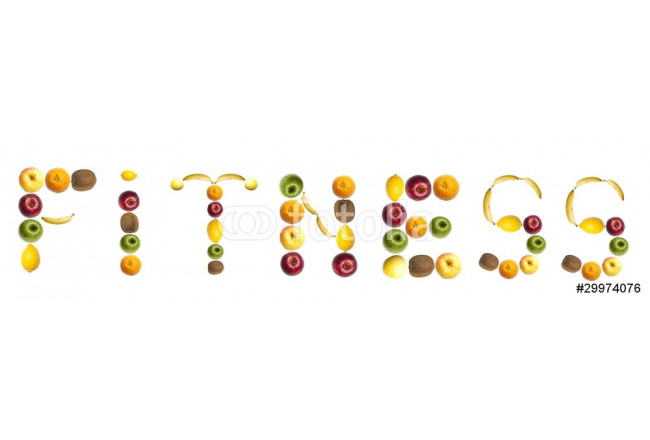 Fitness word made of fruits 64239