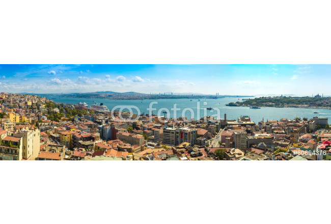Istanbul panoramic view from Galata tower. Turkey 64239