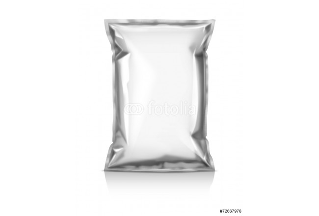 blank snack pouch isolated on white background 64239