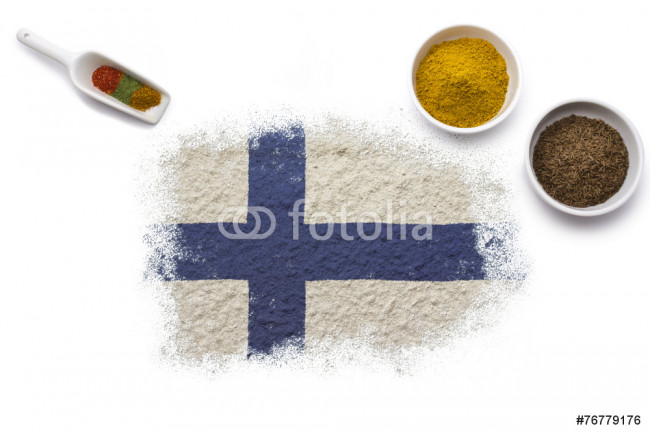 Spices forming the flag of Finland.(series) 64239
