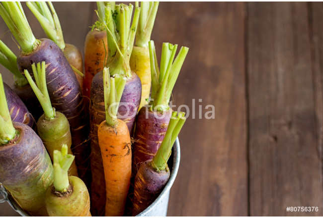 Fresh organic rainbow carrots 64239