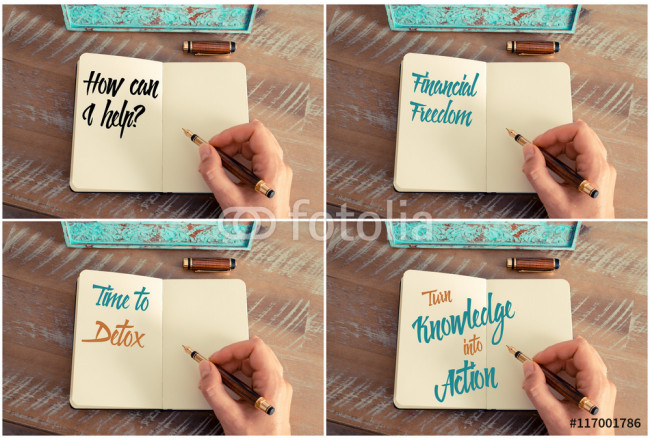 Photo collage of handwritten motivational messages 64239