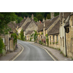Cottages and main street in Castle Combe, Cotswolds, UK 64239
