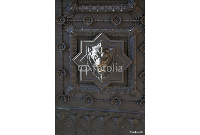 Ancient church in France, the door 64239