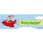 Bunny Flying With Plane And A Blank Banner Attached With Text 64239