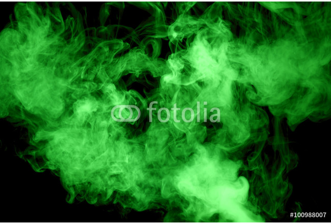 green steam on the black background 64239