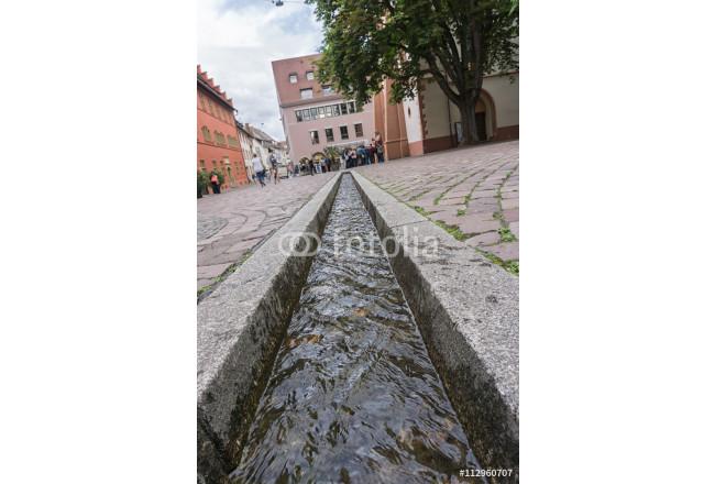 Bild Auf Leinwand Bachle In Freiburg In Baden Wurttemberg Mit