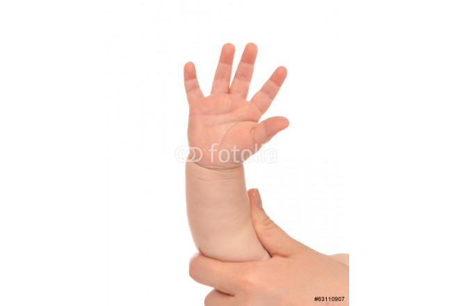 Little child baby kid hand with five fingers 64239
