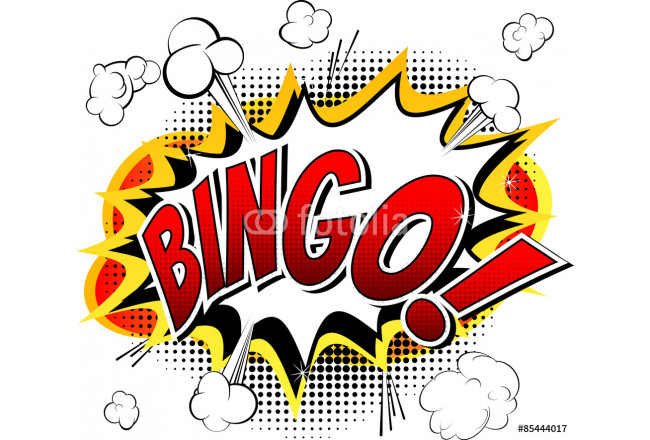 Bingo - Comic book style word isolated on white background. 64239