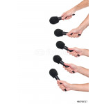 Several hands holding microphones 64239