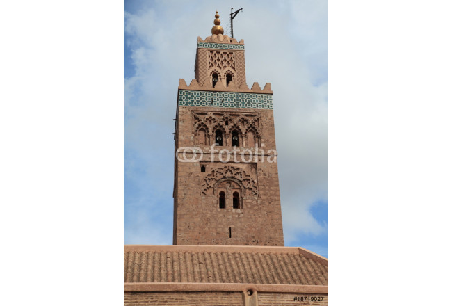 Painting Minaret of the Koutoubia Mosque, Marrakesh 64239