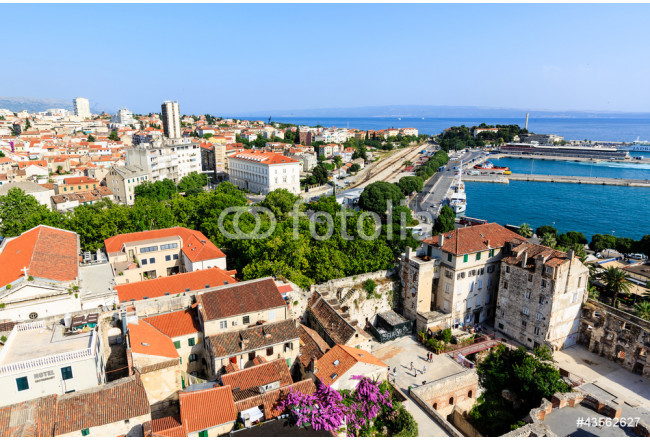Aerial View on Diocletian Palace and City of Split, Croatia 64239