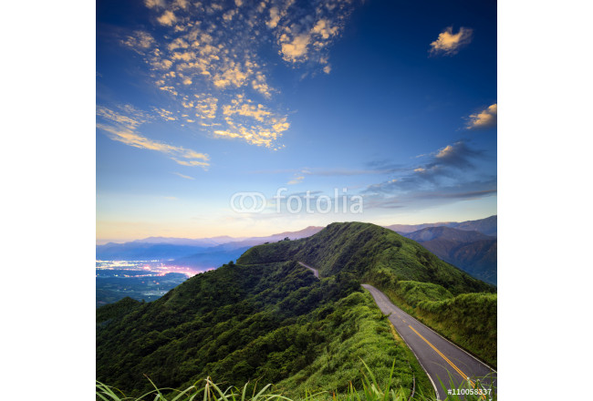 imageing of beautiful landscapes with green road and nice backgr 64239