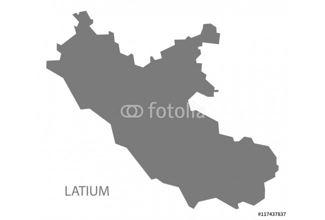 Latium Italy Map grey 64239