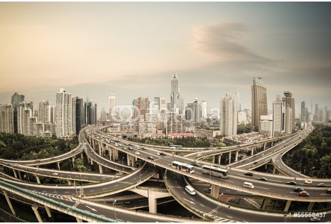 shanghai elevated road junction panorama 64239