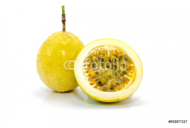 Passion fruit isolated on white background 64239