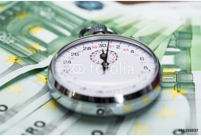 Stopwatch On Banknotes 64239