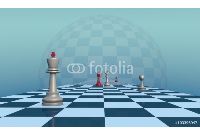 Toile déco Lonely King (chess metaphor) 64239