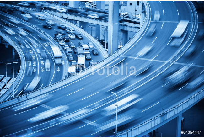 Cuadro decorativo busy traffic closeup and road accident 64239