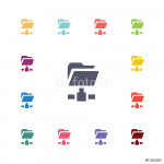 net folder flat icons set. 64239