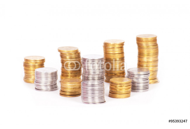 coin stack isolated 64239